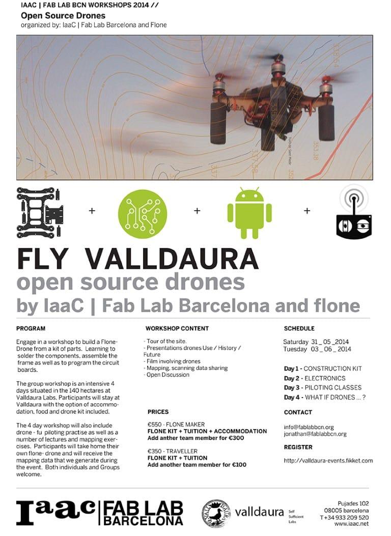FLY VALLDAURA // OPEN SOURCE DRONES WORKSHOP - IAAC