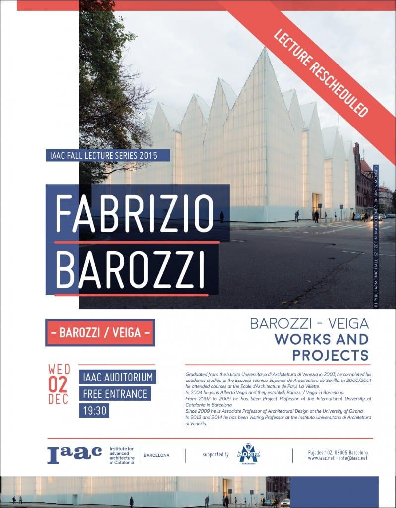 Fall Lecture Series 2015 > Fabrizio Barozzi - IAAC