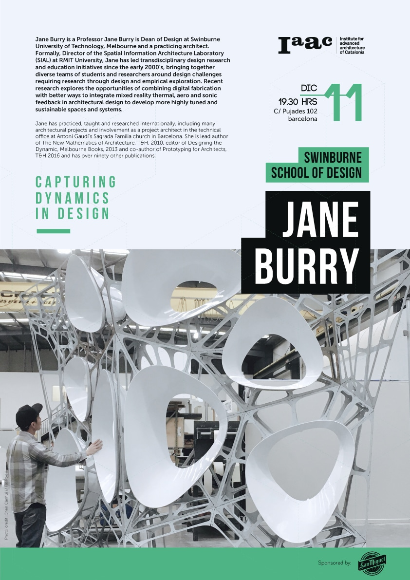 Jane Burry Lecture IAAC