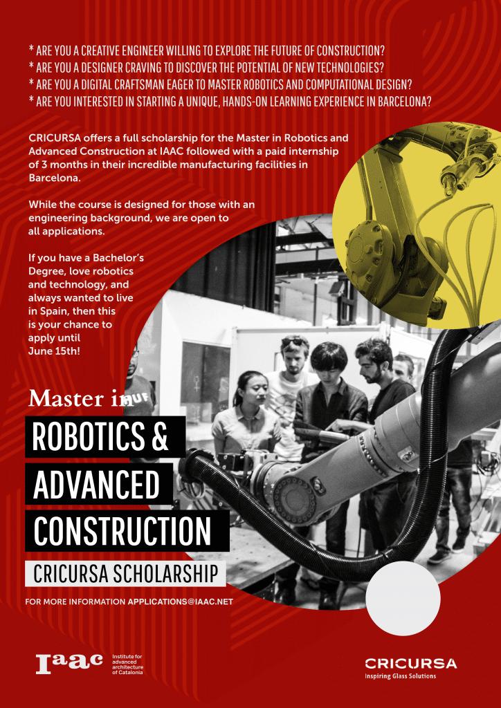 Master in Robotics and Advanced Construction - MRAC