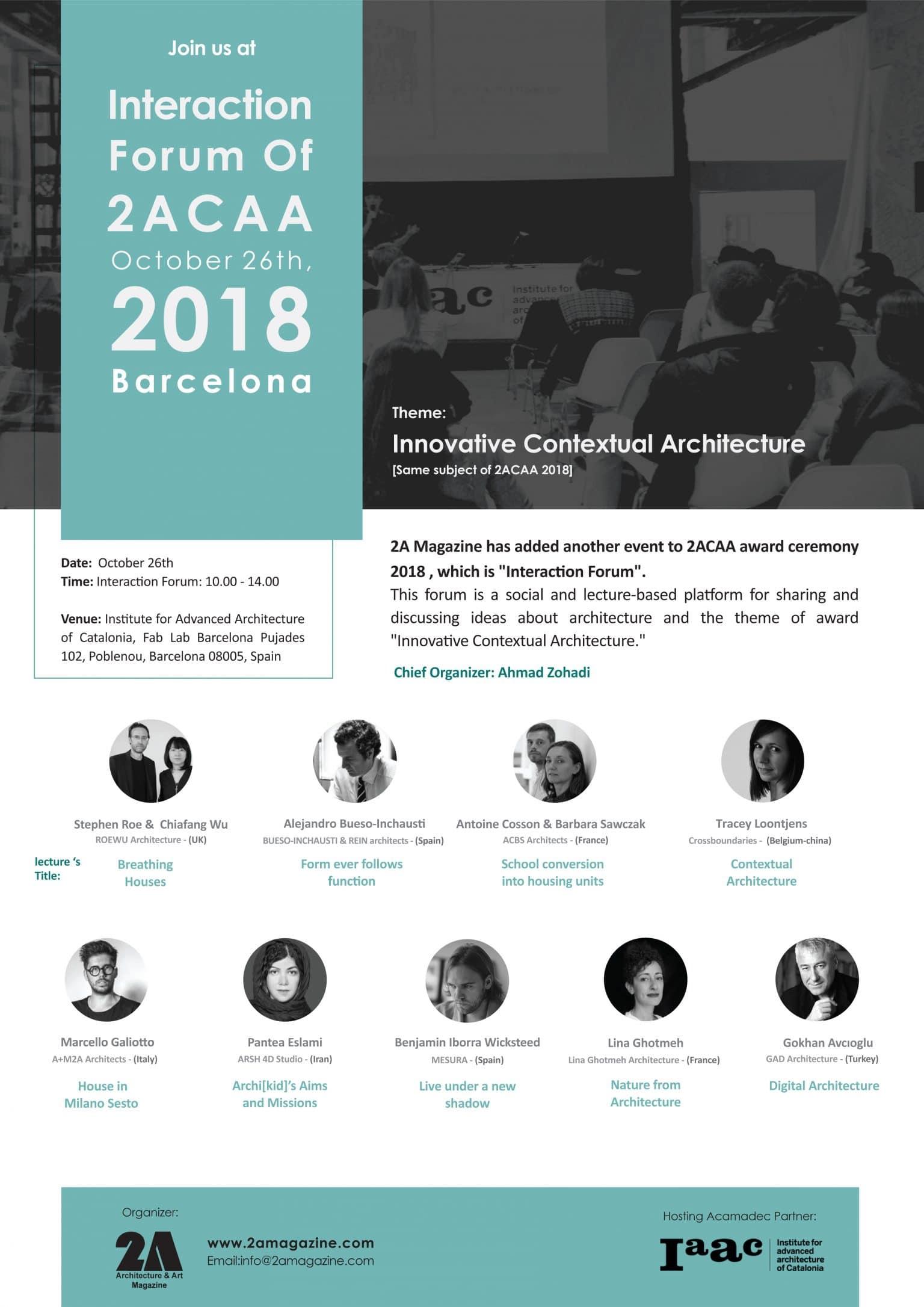 Interaction Forum of 2ACAA