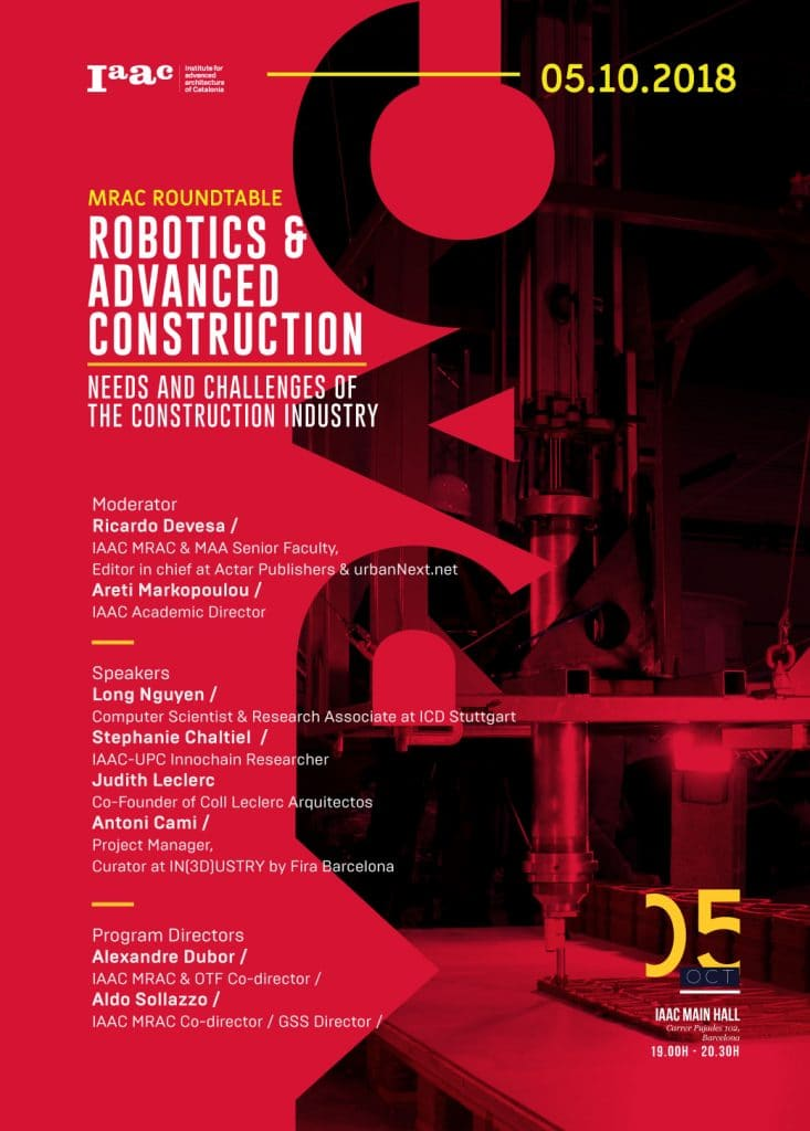 ROUND-TABLE: Robotics and Advanced Construction - Needs and
