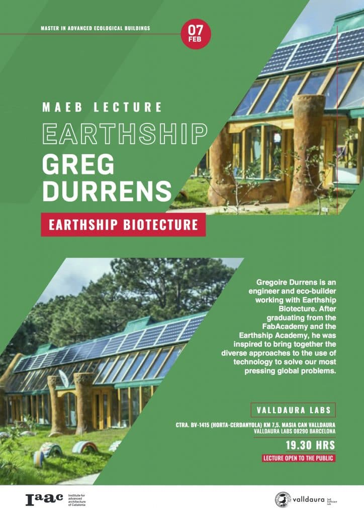 Greg Durrens IAAC Lecture Series