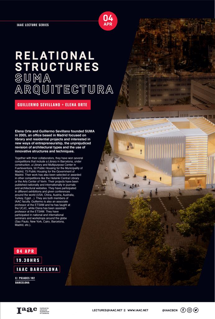 SUMA Arquitectura > IAAC Lecture Series